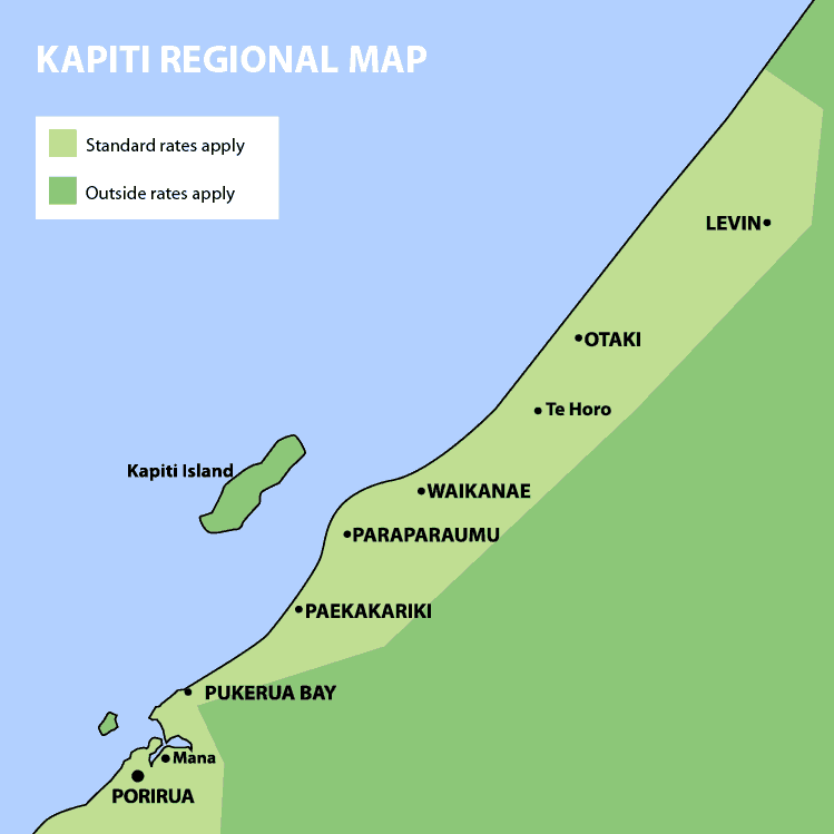 Kapiti Island Map