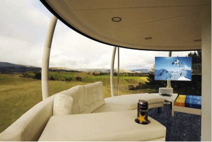 skysphere projector set up