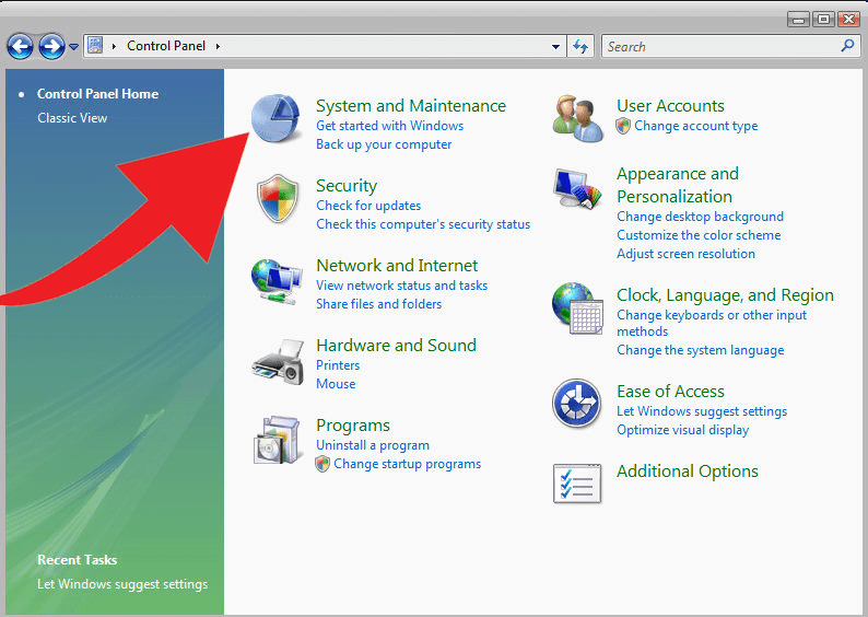 Windows Vista Guide Control Panel