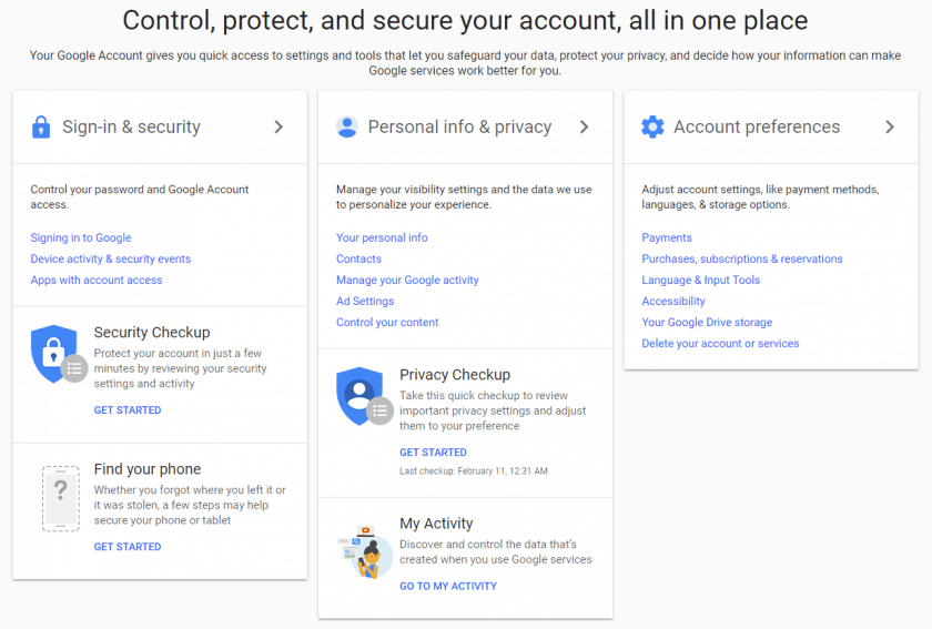 Secure your Account